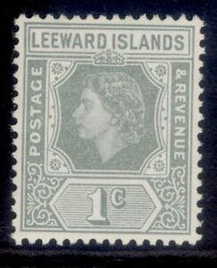 LEEWARD ISLANDS QEII SG127, 1c grey, M MINT.