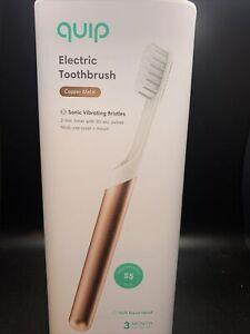 Quip Electric Toothbrush Copper Metal Starter Kit Sonic Vibrating Bristles New