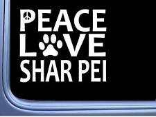 "Shar Pei Peace Love L632 Dog Sticker 6"" decal"