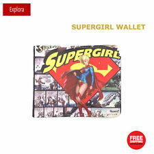 Girls Kids Teenage Biofold Faux Leather Cartoon Wallet -- DC Supergirl