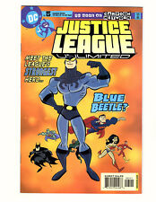 Justice League Unlimited #5 (2005, DC) VF+ Intro Blue Beetle Cartoon Network