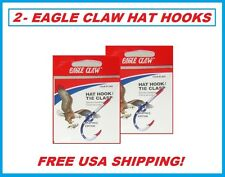 2 EAGLE CLAW FLAG HAT HOOKS NEW! Hat Pin/Tie Clasp #155A-FLAG FISH HOOK HAT PIN