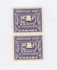 CANADA (MK4120) # J13  VF-MNH  4cts 1933 POSTAGE DUE PAIR /THIRD ISSUE CAT $100