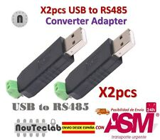 2pcs USB to RS485 485 Converter Adapter Support Win7 XP Vista Linux Mac OS