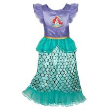 NWT Disney Store Ariel Deluxe Nightgown Costume 4,5/6,7/8