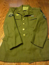 WW II US ARMY Enlisted Tunic ...36 Short....shows patches...medals....badges