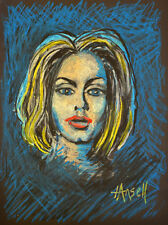 Adele singer oil pastels A3 Print original art not on the high street