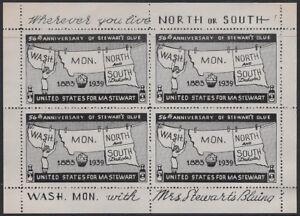 "USA Cinderella: Mrs Stewart's 1939 ""WASH. MON. North and South"" - ow392"