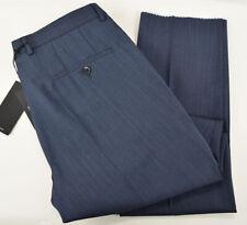 HUGO BOSS Mens Dark Blue MADISEN Flat Front Virgin Wool Dress Pants 36 R NWT