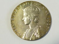 Official 1937 George VI Coronation Silver Medallion 32mm Percy Metcalfe #K74