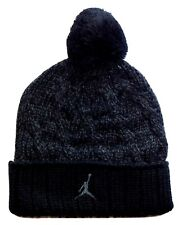 NIKE AIR JORDAN JUMPMAN Youth Cap Cable Knit Pom Beanie Winter Hat $24 Age 8-20