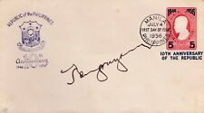 Philippines 1956 Pres. RAMON MAGSAYSAY Autograph on 10th Anniv REPUBLIC cover