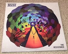 MUSE SIGNED THE RESISTANCE ALBUM MATT BELLAMY DOMINIC & CHRIS w/EXACT PROOF