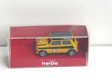 Herpa Mini Cooper rally #136 amarillo/negro 1/87 h0