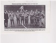 Team Pic from 1967-68 FOOTBALL Annual - NOTTINGHAM FOREST + MANCHESTER UNITED