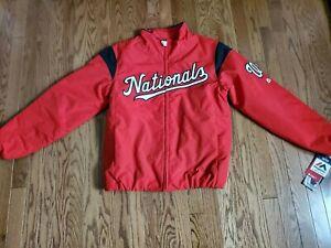 Washington Nationals MLB Majestic Authentic Collection Bullpen Jacket Size M NWT