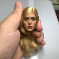 Scarlet Witch 1/6 Female Head Sculpt Carving Model Curls Fit 12'' Figure Body