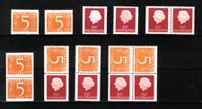 Nederland Stockkaart Combinaties uit Postzegelboekjes 2 Postfris