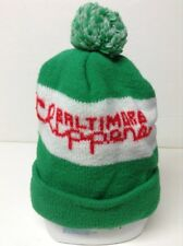 Vintage 1970's Baltimore Clippers Hockey Enjoy Coca-Cola Knit Winter Hat Green