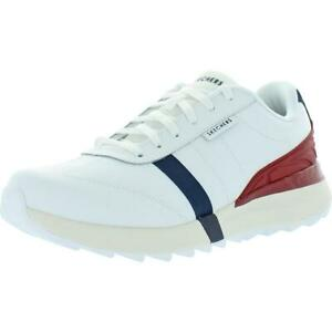 Skechers Mens Speed Tooth Leather Memory Foam Fashion Sneakers Shoes BHFO 5788