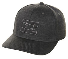 Tag Billabong Mens Boys All Day L-xl Curved Peak Flexfit Cap Hat Graphite