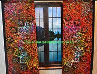 Star Mandala Psychedelic Curtains Wall Tapestry Drapes Window Treatment Bohemian