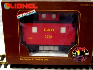 LIONEL 8-87707 B & O BOBBER CABOOSE W/ ONE AMERICAN COUPLER & ONE EURO