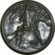 World Commemorative Medal 1920. World War I. Vittorio Emanuele Iii. By: Johnson.