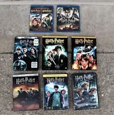 HARRY POTTER BLU-RAY + DVD LOT (2 BLU-RAYS & 1 NEW) WITH 4 SLIPCOVERS LOT OF 8