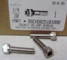 1/4-20x1 Hex Socket Head Cap Screws Stainless Steel (15)