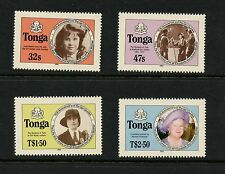 Tonga  1985 #608A-11A Girl Guides Queen Mother PERF 14  4v.  MNH  K505
