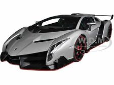 LAMBORGHINI VENENO GENEVA SHOW CAR 2013 GREY 1/18  MODEL CAR BY AUTOART 74506