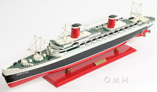 """SS United States Ocean Liner Wooden Model 32"""" Cruise Ship Fully Assembled Boat"""