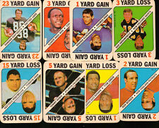 1971 Topps NFL Inserts  8 Card Lot Bell,, Nobis, Russell