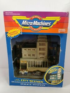 Galoob Micro Machines City Scenes Police Station New Sealed Set