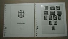 LINDNER HINGELESS PRINTED LEAVES FOR MOLDOVA 1991 - 1998. PAGES 1-32 EXCELLENT