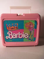 Cool Times Barbie  Plastic Lunchbox, No Thermos! (Used) 1989.