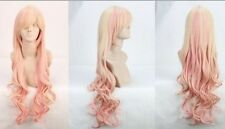 Hot Sell! lolita popular long Light Blonde Mixed Pink Curly Cosplay wig   g91