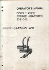 New Holland Forage Harvester Double Chop 339 & 342 Operators Manual