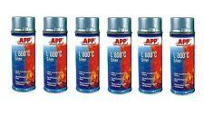 Lot de 6 bombe de peinture haute température gris en aérosol 800° (PE05)