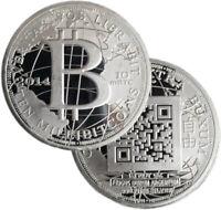 2014 Mulligan Mint 10 mBTC BTC Millibitcoin Specie 1oz .999 Silver Coin QR Code