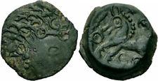 Celtes Belgica incerte bronze Bituriges Cubi Ambiani Suessiones voir CASTELIN 468