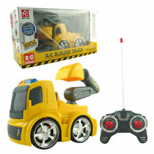 Builder Truck Excavator Digging 4CH Construction Remote Control RC Kid Child Toy