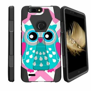 For ZTE Sequoia Z982 | ZTE Blade ZMAX | Zmax Pro 2 Case Dual Layer Stand Cover