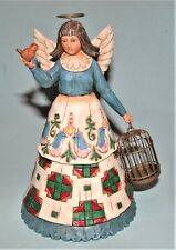 Enesco Jim Shore Angel figure #105168 New Christmas 2002 w bird + cage, all year