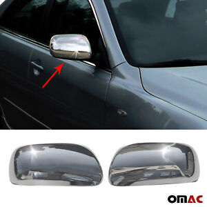 Fits Toyota Camry 2007-2011 Stainless Steel Chrome Side Mirror Cover Cap 2 Pcs