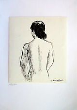 Pierre ZÉNOBEL (1905-1996) Dessin NU 1978/1980 Ecole de Paris Fauvism Fauvisme