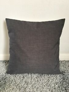 """NEW 22"""" PLAIN GREY CUSHION COVER PILLOW BED SOFA MORE COLOURS SIZES AVAILABLE"""