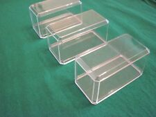 3 | Clear Acrylic | Display Cases | 1:64 Scale | Hot Wheels | Matchbox | Nascar