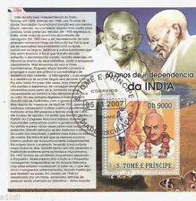TOME GANDHI STAMPS  MINIATURE SHEET FD CANCELLED INDIA THEME
